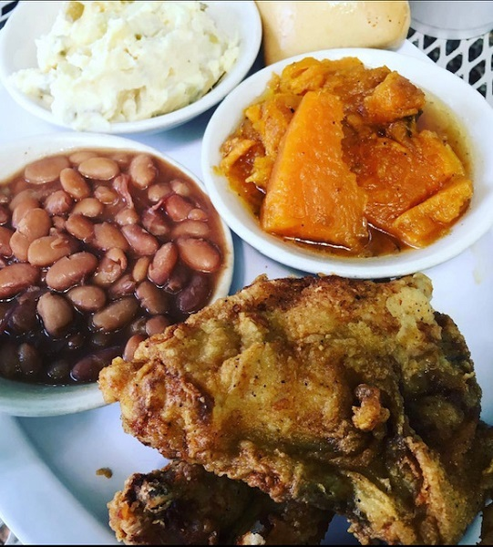 Southern fried chicken at Magnolia 23 of Asheboro in the Heart of North Carolina's down home dining blog