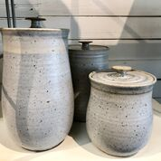 Winter white pottery created by Alexa Modderno at Moddware in Seagrove NC