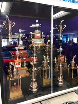 Trophy Case at the Richard Petty Museum