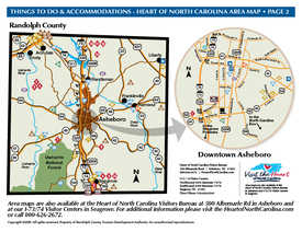 THINGS TO DO - HEART OF NORTH CAROLINA AREA MAP