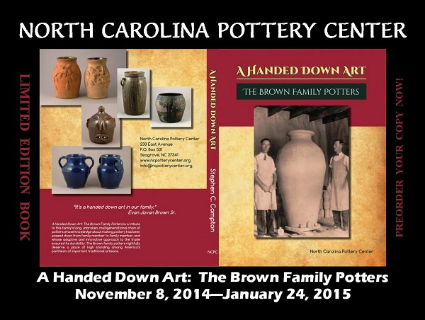The North Carolina Pottery Center Presents Monthly Lecture Series, Friday, December 12, 7 - 9 PM