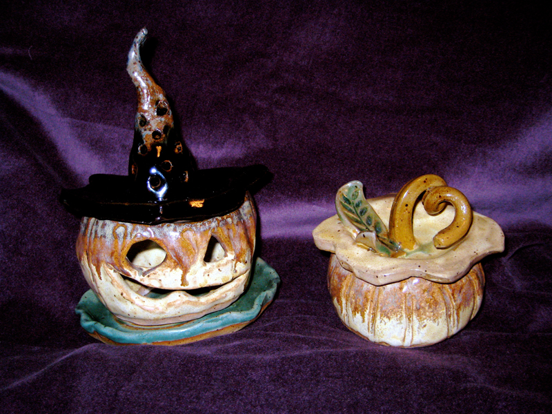 Randolph Arts Guild offers Clay Pumpkin Jar/Tea Light Class with NC Potter, Brooke Avery