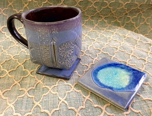 The Randolph Arts Guild Offers Clay Mug & Coaster Set with Brooke Avery