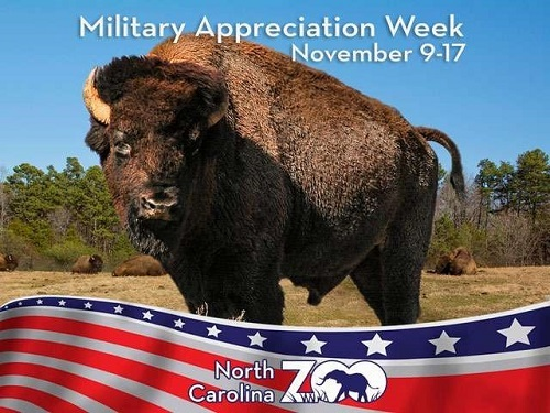 North Carolina Zoo Celebrates Military Appreciation Week