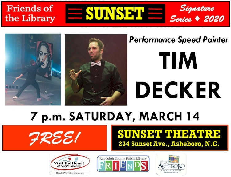Asheboro Sunset Series event with speed painter Tim Decker canceled
