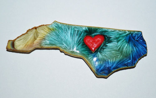 Crystalline Pottery State Magnet - Heart