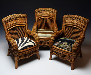 Zoo-Inspired Wicker Doll Chair