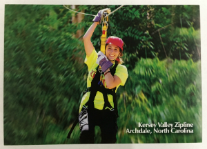 Kersey Valley Zipline Postcard