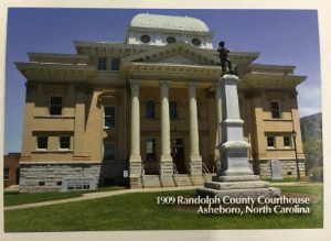 1909 Randolph County Courthouse Postcard