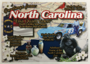 Visit North Carolina Postcard